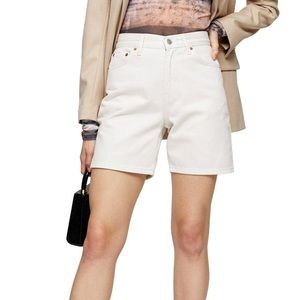 Topshop Straight Leg Denim White Shorts NWT